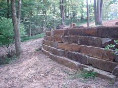 Ledge Rock retaining wall for Erosion Control