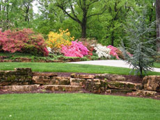 Natural Stone Terracing by Aching Acres Landscaping