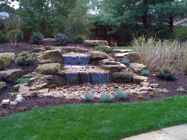 Delicieux Custom Designed Waterfalls By Aching Acres Landscaping