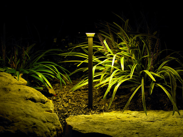 Exterior Landscape Lighting by Aching Acres Landscaping