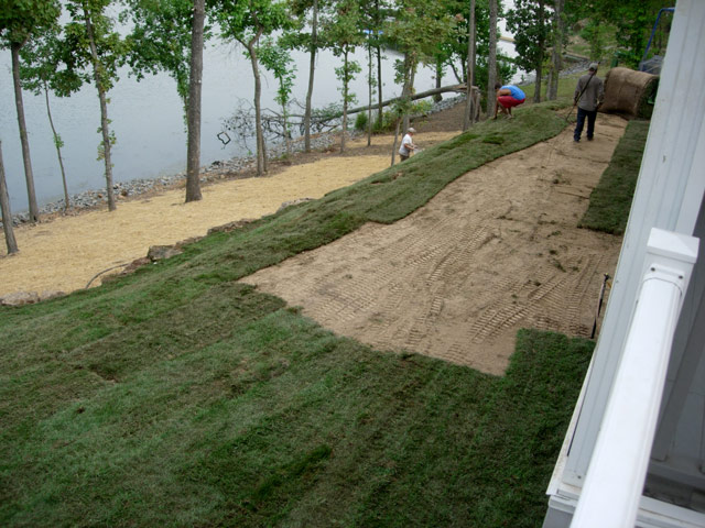 Sod and Seed Installation by Aching Acres Landscaping