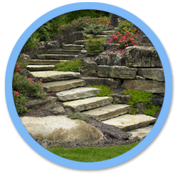 Natural Stone Boulder Landscaping Projects by Aching Acres Landscaping