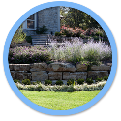 Natural Stone Fireplace Landscaping Projects by Aching Acres Landscaping